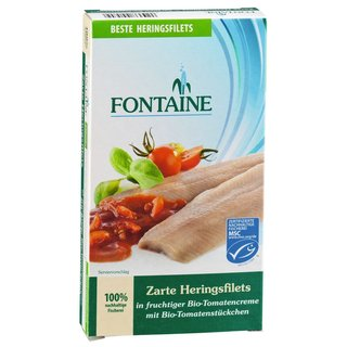 Hering-Filets zart in Bio Tomatencreme 6x200gr